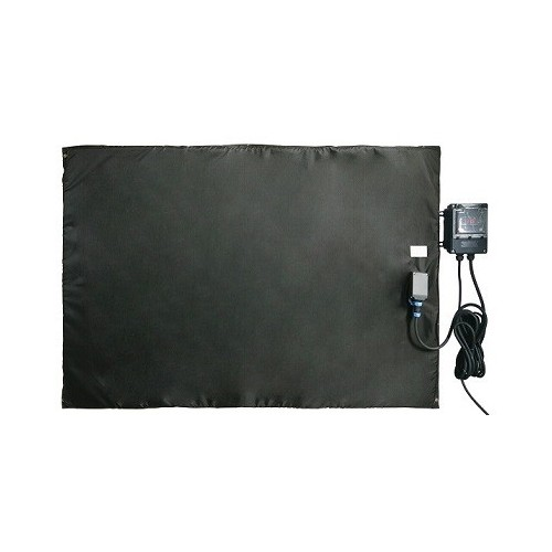 Bâche chauffante plate et souple 0-125°C en 750x750mm / 550w avec regulateur digital