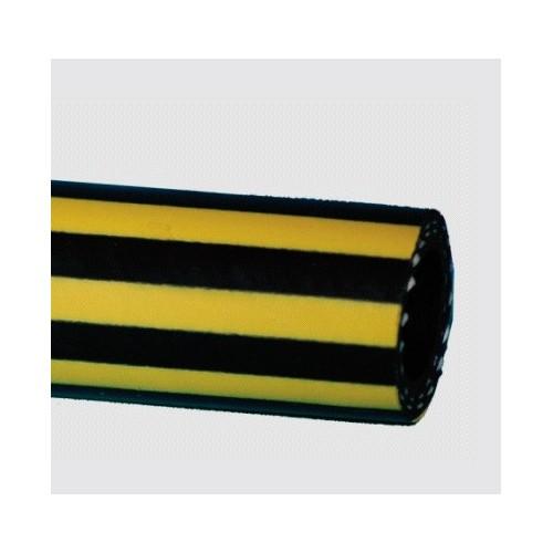 Tuyau EPDM refoulement eau chaude bandes jaunes 100c°