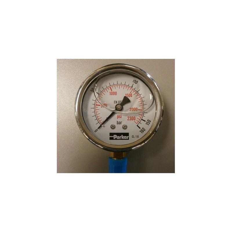 manomètre PARKER PGB 063 à aiguille vertical