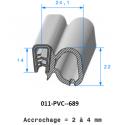 Tampon réduction NICOLL PVC 100 2 trous