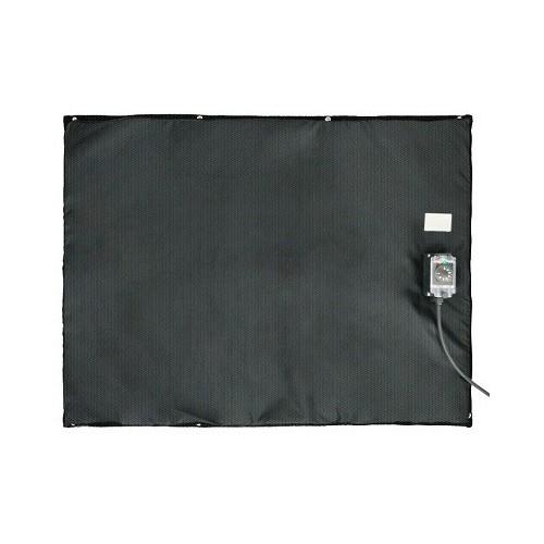 Bâche chauffante plate et souple 0 - 125°C 220-240 VAC en 750x750mm / 550w