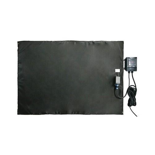 Bâche chauffante plate et souple 0-125°C en 750x750mm / 550w avec regulateur déporté