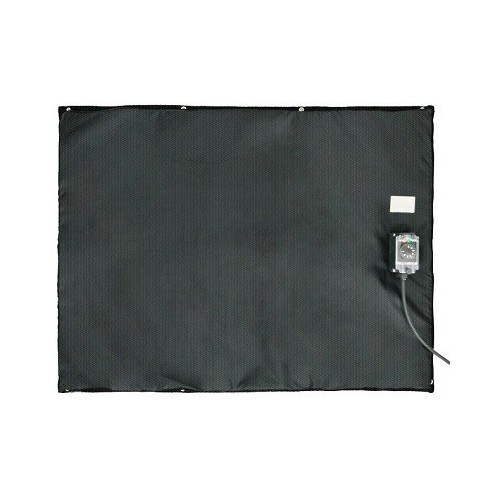 Bâche chauffante plate et souple 0-125°C en 750x1000mm / 750w 220-240 VAC
