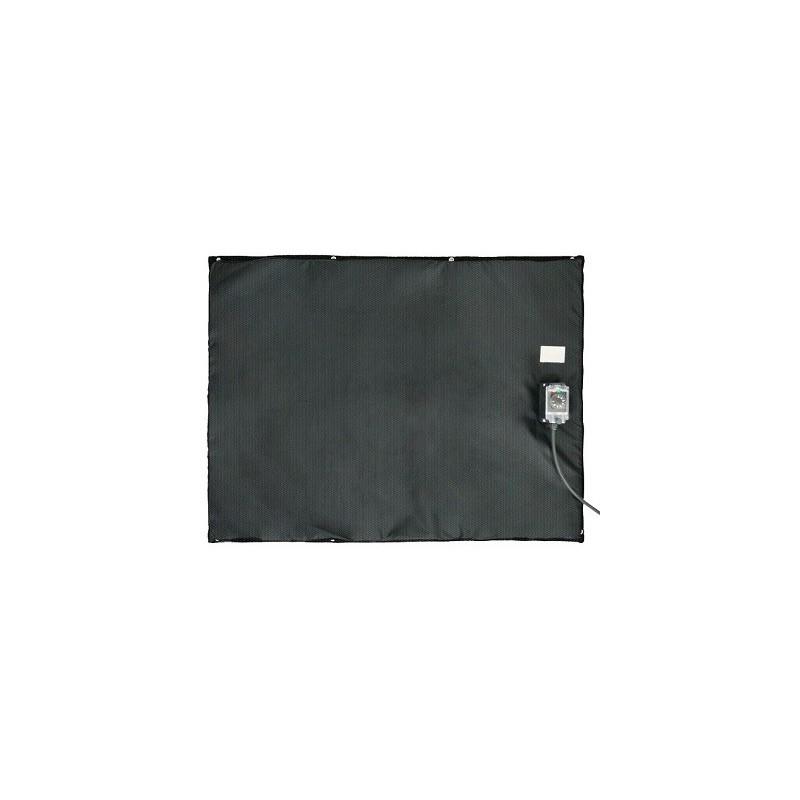 Bâche chauffante plate et souple 0-125°C en 1000x2000mm / 2000w 220-240 VAC