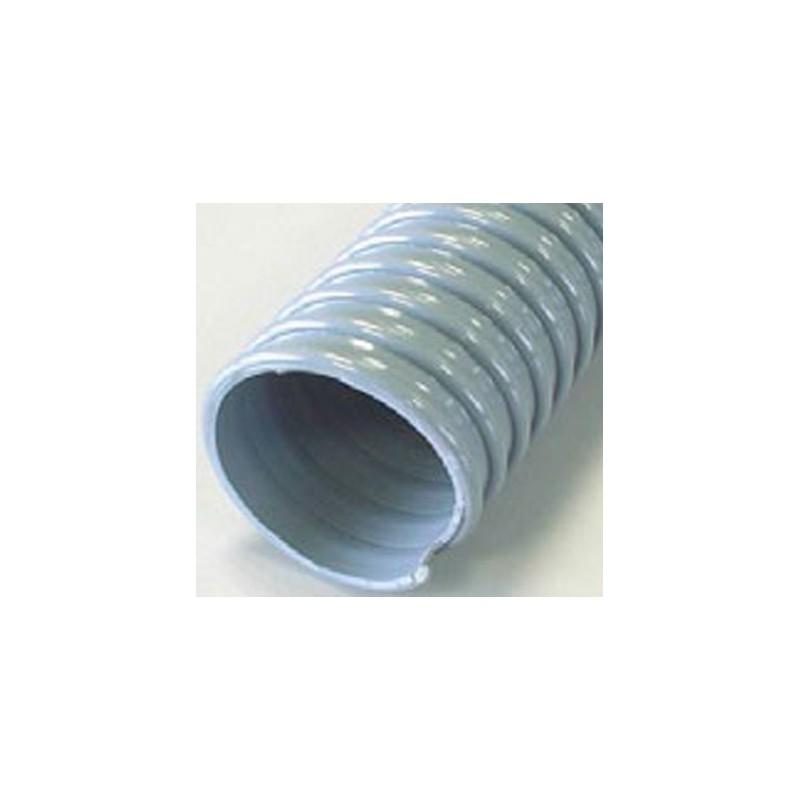 Gaine PVC spirale PVC grise 100 - 25M