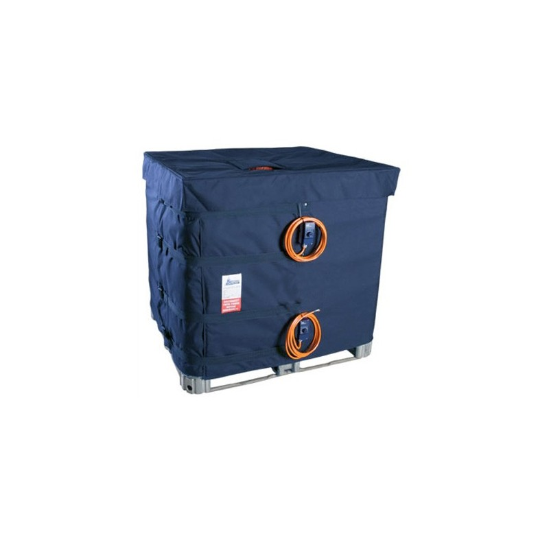 Housse chauffante 2x1000W 230V 1ph pour container 1000L