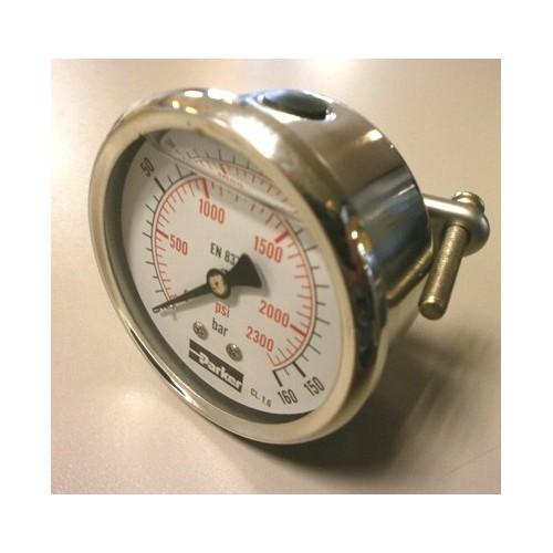Manomètre hydraulique PARKER PGC 063 à aiguille horizontal
