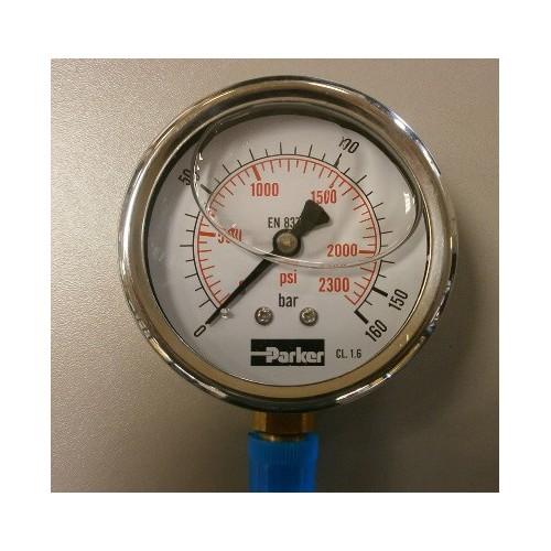 Manomètre hydraulique PARKER PGB 063 à aiguille vertical