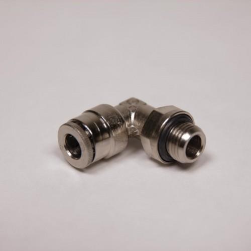 Raccord instantané - Coude male orientable métrique-cylindrique