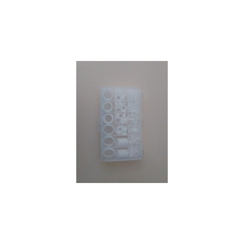 Coffret 480 joints PTFE vierge ou Téflon EP 2mm pour raccords standards