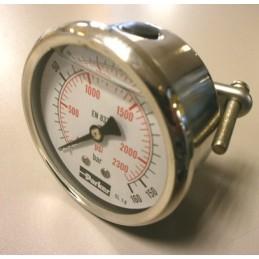 Manomètre hydraulique PARKER PGB 063 à aiguille horizontal