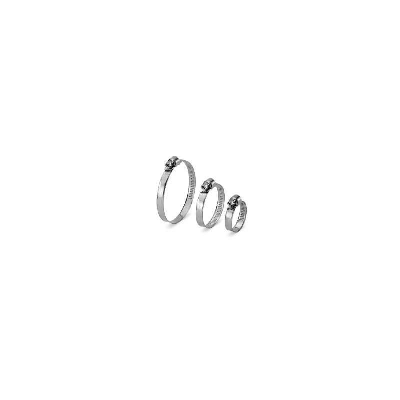 Collier inox crémaillère bande pleine 9mm