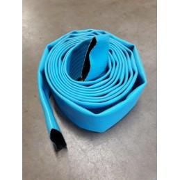 Tuyau plat bleu en PVC
