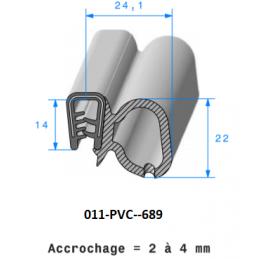 Joint profilé pince PVC armé + bulbe cellulaire