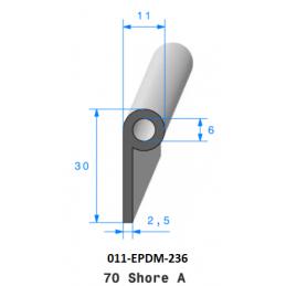 Profil 236 - Joint Profil note de musique en caoutchouc EPDM