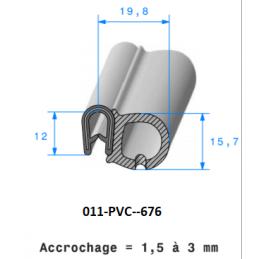 Profil 676 - Joint pince PVC armé + bulbe cellulaire