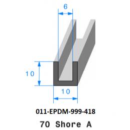 Profil 418 - Joint Profilé en U en caoutchouc EPDM