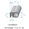 Profil 376 - Joint EPDM armature métallique avec EPDM cellulaire