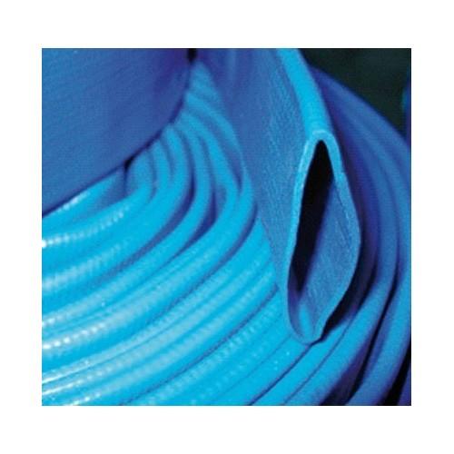 Tuyau plat bleu PVC enroulable 100 - 25m