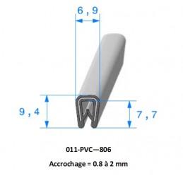 Profil 806 - Joint pince PVC armé noir
