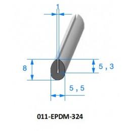 Gaine polyuréthane spiralée acier cuivrée 100 - 5M