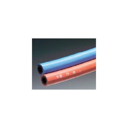 Tuyau caoutchouc pour soudure jumelé OXYGENE/ACETYLENE - rouge/bleu - 010mm - 017mm
