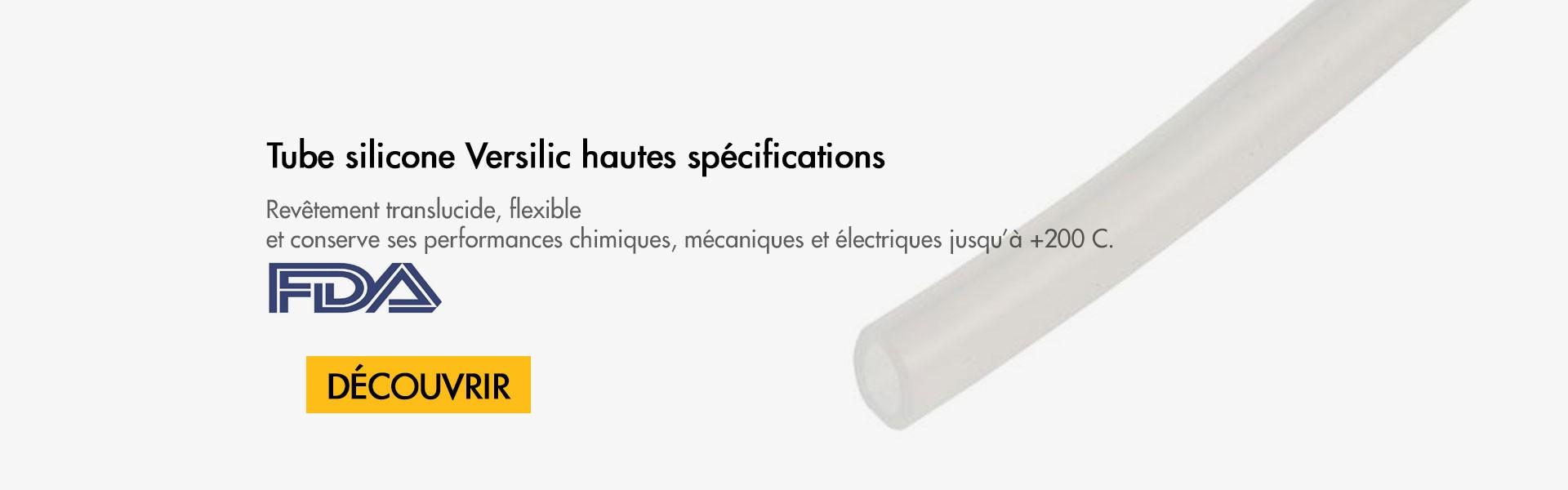 Tube silicone Versilic haute spécifications FDA